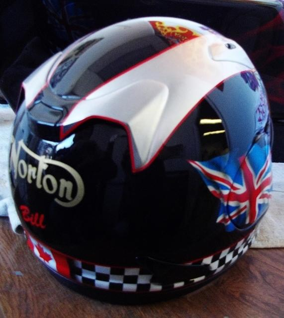 Norton helmet back
